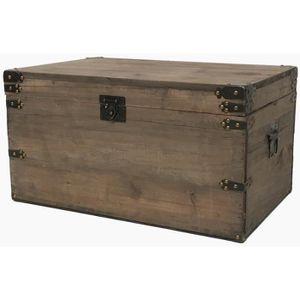 great coffre malle coffre de style ancien vieille malle en bois cm with coffre bois maison du monde. Black Bedroom Furniture Sets. Home Design Ideas