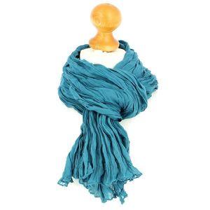 ECHARPE - FOULARD Chèche coton, Turquoise Unique Bleu 088a3fc340a