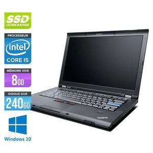 ORDINATEUR PORTABLE Pc portable Lenovo T410 - Core i5 - 8Go -240Go SSD