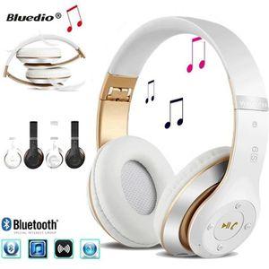 CASQUE - ÉCOUTEURS Bluetooth Casque Sans Fil Bluetooth 4.0 Lourde Bas