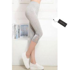 LEGGING Dresstells Femme court 3 4 Longueur Leggings Modal b296bc7df70