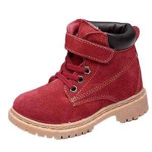 BOTTE Style fille enfants garçon Boot coton en cuir Réch