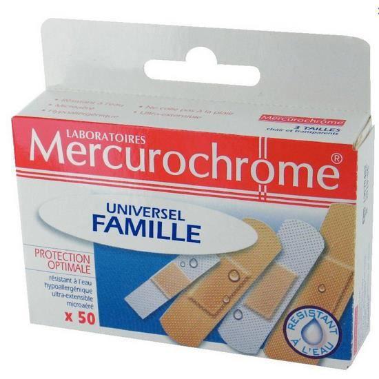 Mercurochrome pansements famille universel, 50 unités - Achat ... 62259f10f902
