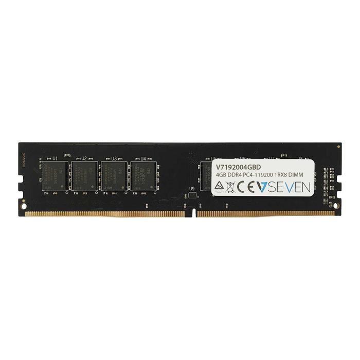 V7 Module de RAM - 4 Go - DDR4-2400/PC4-19200 DDR4 SDRAM - CL17 - 1,20 V - Non-ECC - Non bufferisé - 288-broches - DIMM