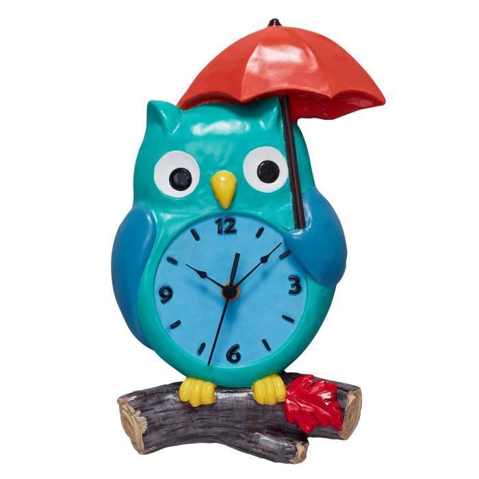 Horloge murale en bois pour décoration chambre enfant bébé forme ...