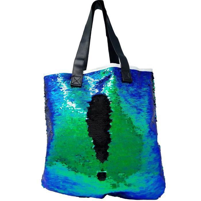 Paillettes sirène Paillettes magique réversible Glitter Sac à bandoulière rétro sac à main fourre-tout ZTX4H