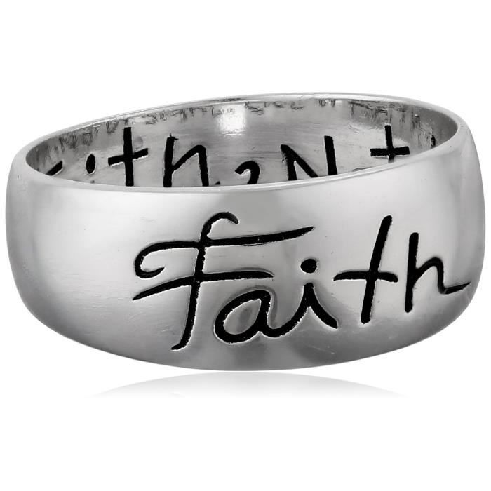 Jewel Panda St Argent Faith Inscribed Outside Et Live By Faith Not By Sight Inside Ring