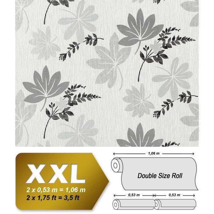 Xxl Papier Peint Intisse Motif Floral Edem 641 96 Feuilles Gris