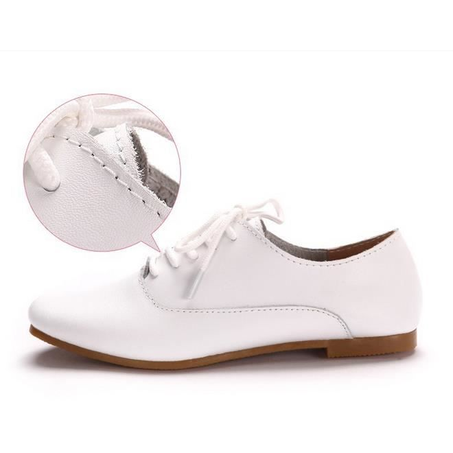 6 - flats chaussures femmes chaussures oxford (blanc)