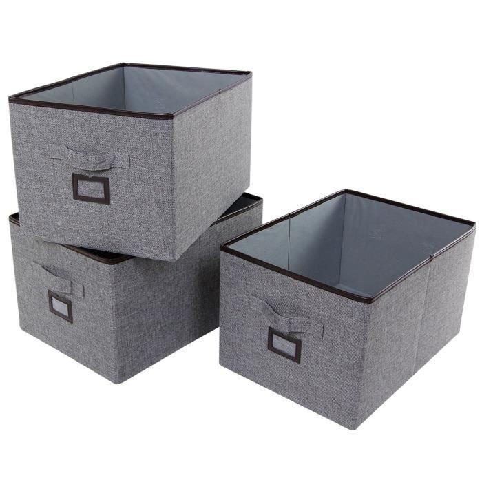 boite rangement tissu achat vente boite rangement tissu pas cher cdiscount. Black Bedroom Furniture Sets. Home Design Ideas