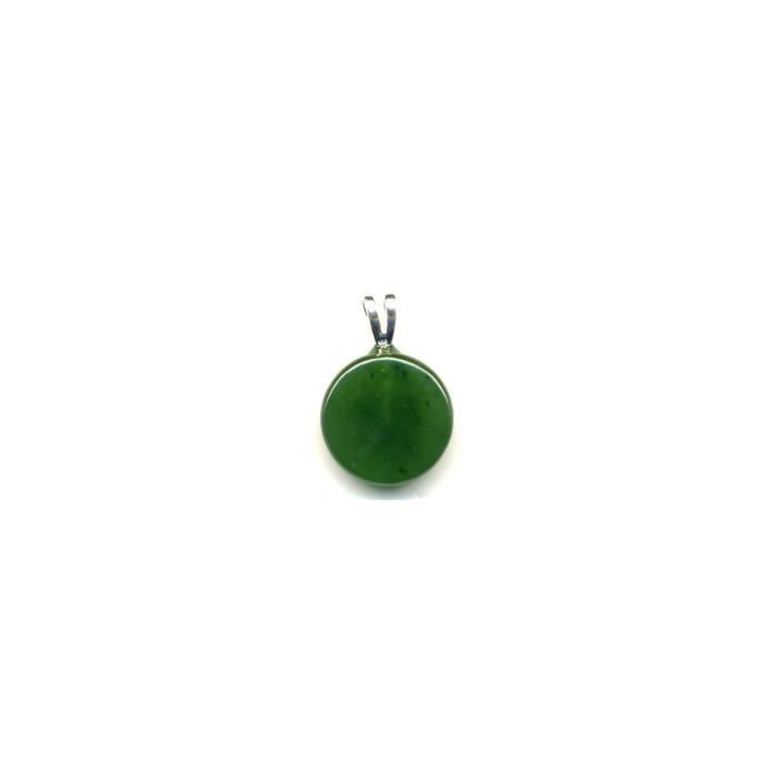 Pendentif Jade néphrite Extra bélière argent