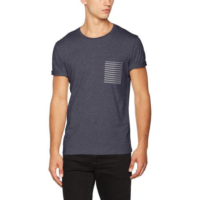 2a15e1100e7 Selected Shdirwin Ss O-neck Tee T-shirt 1V46T1 Taille-S Bleu Bleu ...