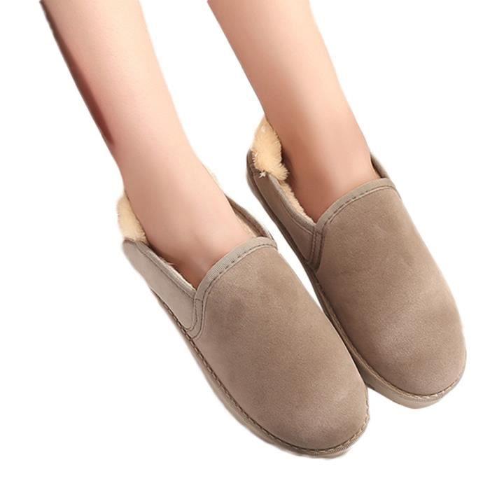 b419f5a3f727 Femme Bottes de neige étudiants pain plat chaud Chaussures Hiver Dans  Chaussures Welvet