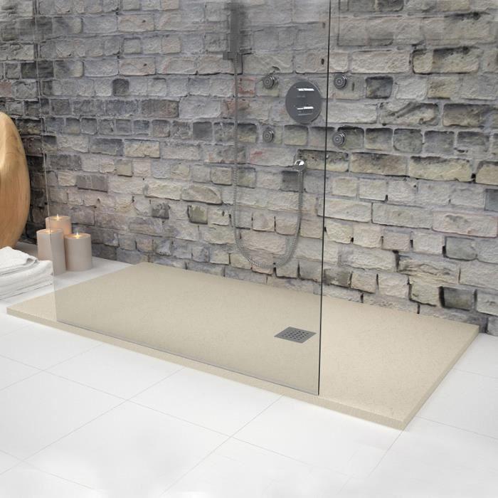 Receveur de douche 160 x 80 cm extra plat strato beige - Receveur de douche extra plat pas cher ...