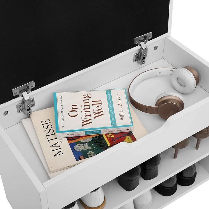 songmicsr etagere a chaussures banc de rangement capacite for meuble a chaussure avec banc 9 meuble
