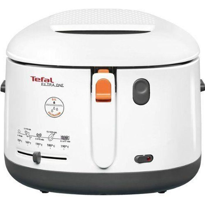 tefal ff1621 friteuse filtra one 1900 watts blanc achat. Black Bedroom Furniture Sets. Home Design Ideas