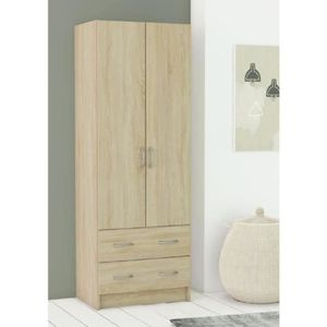 Armoire achat vente armoire pas cher cdiscount for Armoire chambre adulte cdiscount