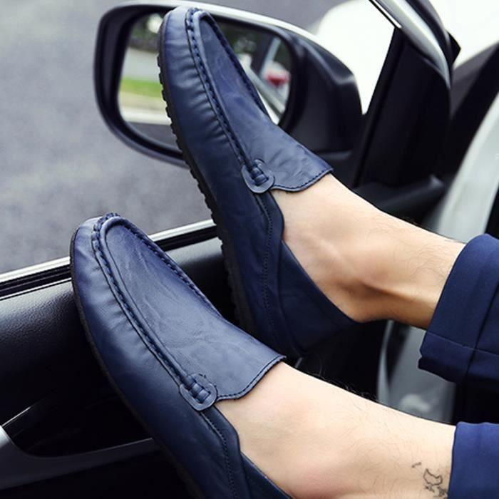 Chaussures De Bateau De Mode Homme Respirant De Mocassins Designer Plat En Cuir Souple Chaussures De Luxe Marque Ventes Chaudes cVzf2