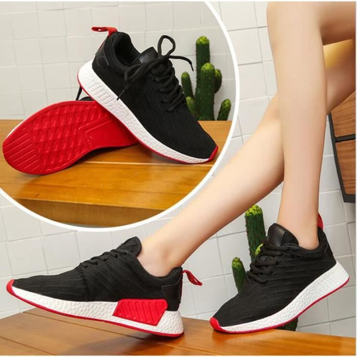 Femmes Chaussures de Course Sports Homme Lacets Mesh Respirante Fitness Gym Running Baskets