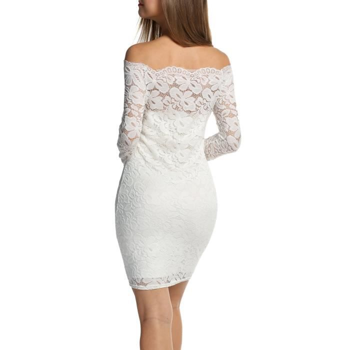 Sleeve Long Womens Bodycon 36 Shoulder Taille Lace Acevog Off 2UFFQ0 Dresses Dress SqaY6W
