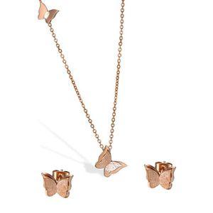 PARURE Cupimatch givré Papillon Boucles d'oreille à Tige
