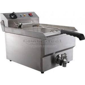FRITEUSE ELECTRIQUE Friteuse électrique 8 litres avec robinet de vidan