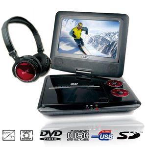 LECTEUR DVD PORTABLE D-Jix PVS705-79HR Lecteur DVD portable + casque
