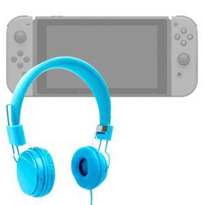 HOUSSE DE TRANSPORT Casque bleu enfant pour Console de jeux Nintendo S