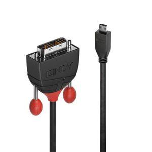CÂBLE AUDIO VIDÉO Lindy Black Line Câble vidéo liaison simple HDMI -
