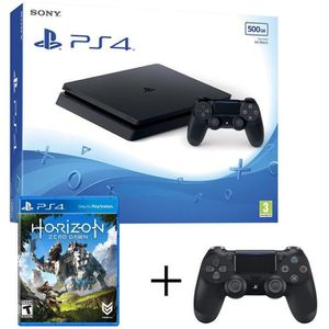 CONSOLE PS4 PS4 Slim 500Go + manette noir + Horizon zero