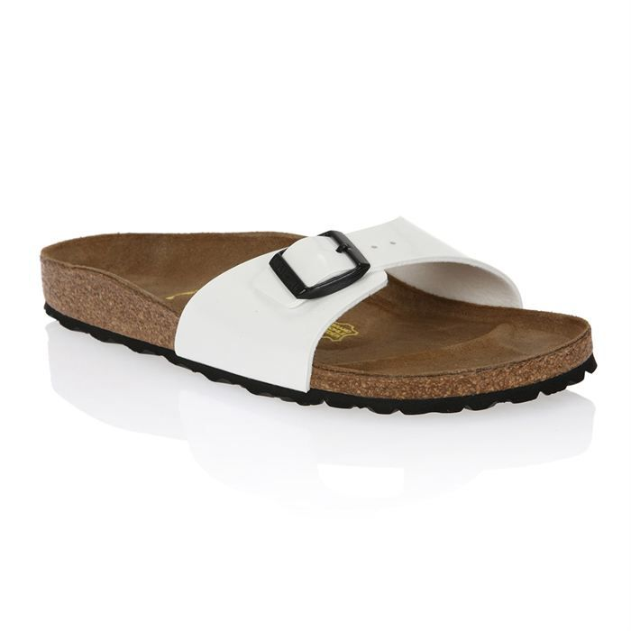 Birkenstock Mules Madrid blanches blanc - Chaussures Mules Homme