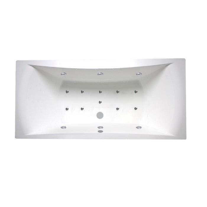 AQUAVITA Baignoire balnéo Hyeres 170x75cm avec tablier façade et un retour