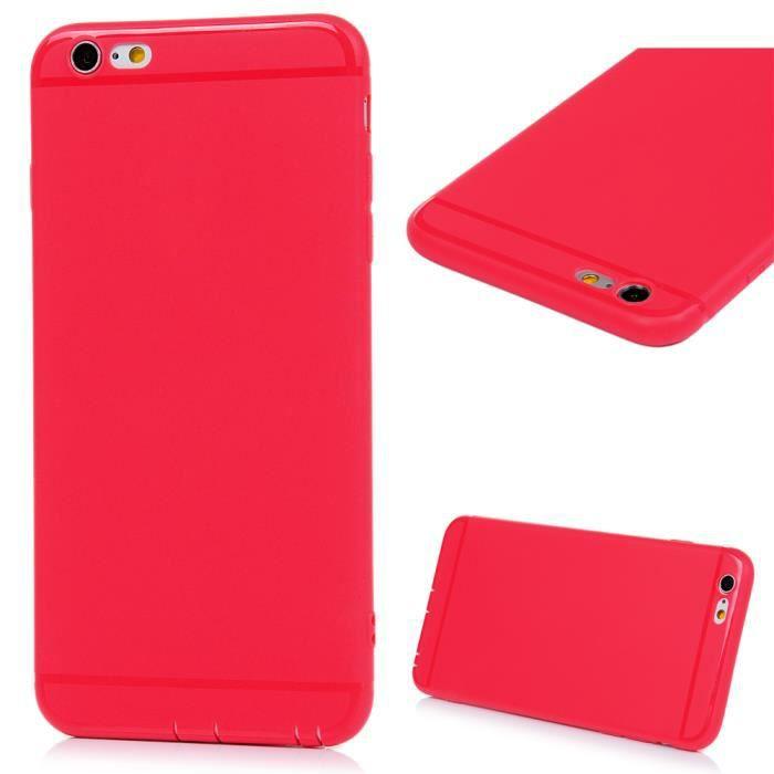 iphone 6 coque transparente rouge
