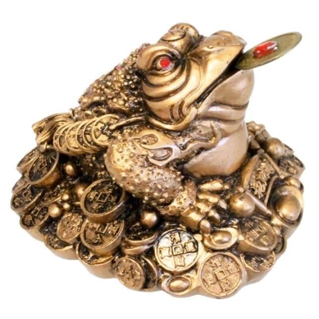 Objet Feng Shui crapaud fortune feng-shui (doré) - achat / vente objet décoratif