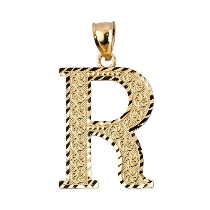 Collier Pendentif10 ct 471/1000 R Or initiale Collier Pendentif(vient avec une Chaîne de 45 cm) pXnYcd
