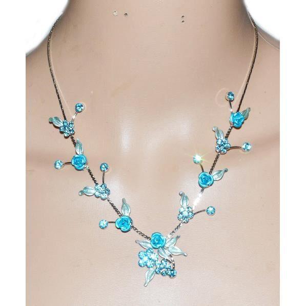 bijoux fantaisie bleu