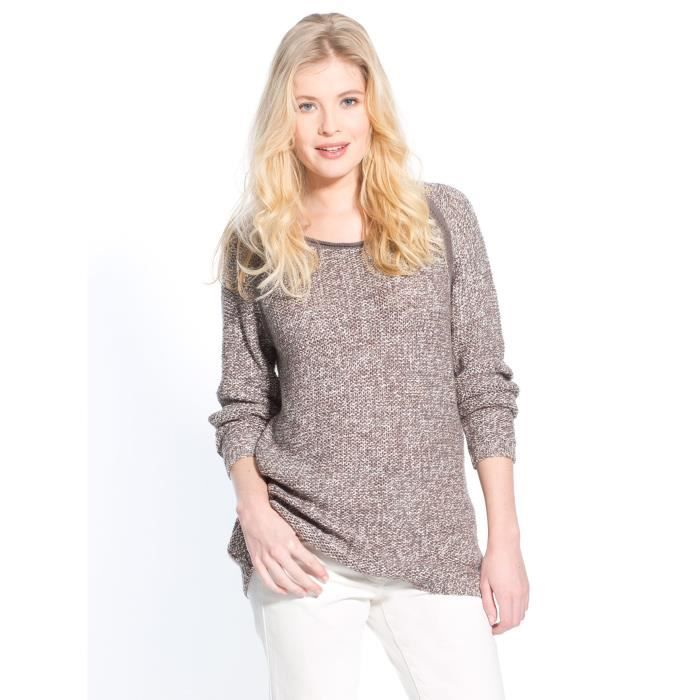 Pull bicolore, manches longues - Achat   Vente pull - Cdiscount b3a21d491c7a