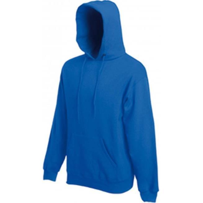 Sweat Capuche Bleu Royal Uni mixte Homme-Femme.SC244C.Fruit of the ... bf5c3a34ddb6