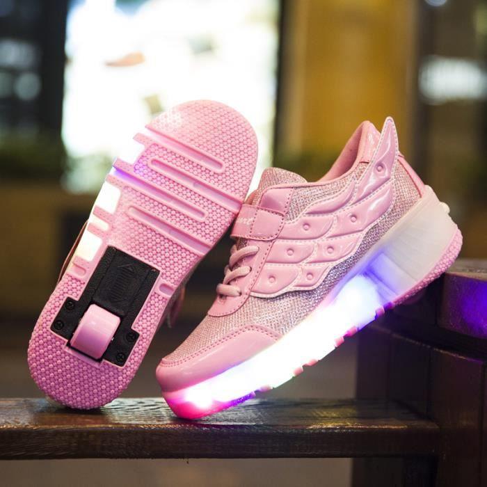 Enfants chaussures roulettes automatique LED lighted de patins à roulettes clignotants wheely unisexes enfant sneakers avec roue