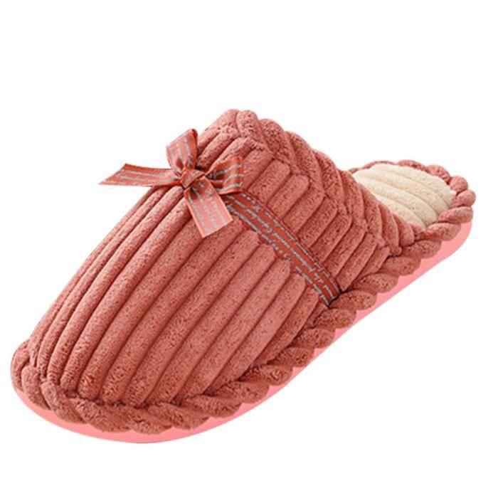 SIMPVALE Femme Homme Chaussons Cotton Pantoufle... TqpjZiQd