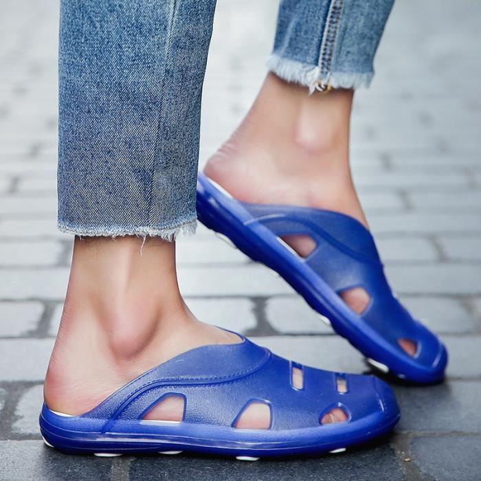 Sandales solides été Grande pour Chaussures hommes pataugeant Simple Respirant taille vzqzBCRwO