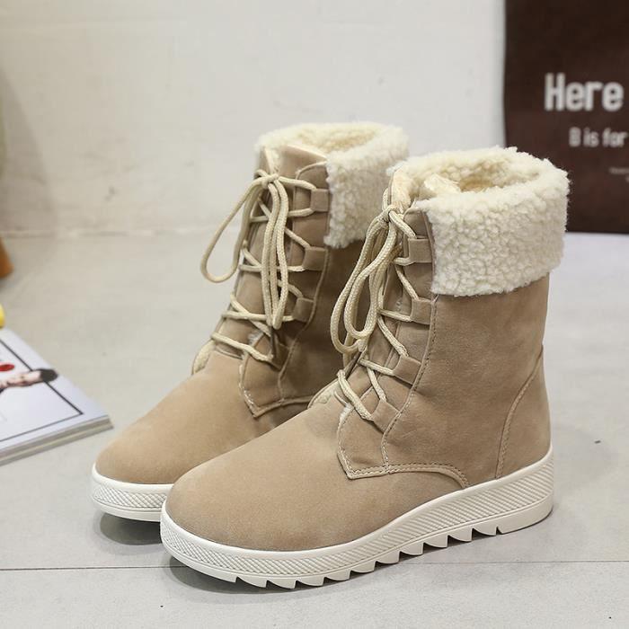 Bottes femme Bottes mode Bottes hiver Bottes populaire Bottes chaudement Chaussures montantes Chaussures confortablesBottes 4Rfj9Hdab