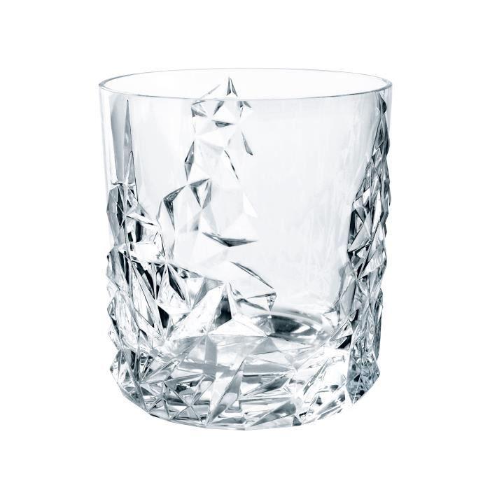 Merveilleux Nachtmann Sculpture Whisky Lot, 2 Pcs., Barware, Carafe Et Verres à Whisky,  Cristal De Plomb, H 10 Cm, 365 Ml, 0091901 0