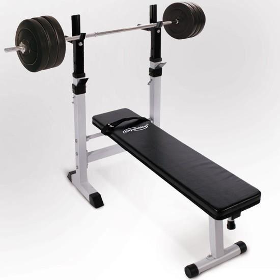banc de musculation et haltere