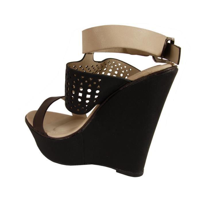 Sandales pour Femme URBAN B703200-B7200 BLACK Ry08ZoJQK