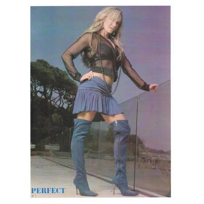 Cuissardes HIGHEST HEEL sexy chic Daim bleu Perfect Suede Pointure 39,5