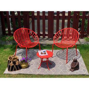 OPOA Salon de jardin 2 places - 2 fauteuils et une table basse en ...
