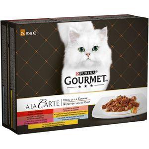 GOURMET A la carte Coffret Menu de la semaine - ? la viande - pour chat - 7 x 85g