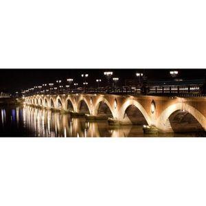 TABLEAU - TOILE ARTIS Toile imprimée Pont de Pierre Nuit - Chassis