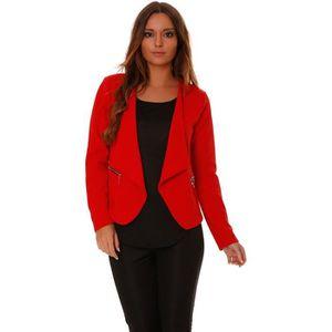 blazer femme rouge achat vente blazer femme rouge pas cher soldes d s le 10 janvier cdiscount. Black Bedroom Furniture Sets. Home Design Ideas